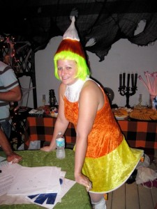 working the candy corn