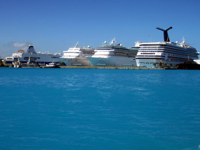 the ship lineup - ours is the little one on the left