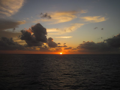sunset from the sea