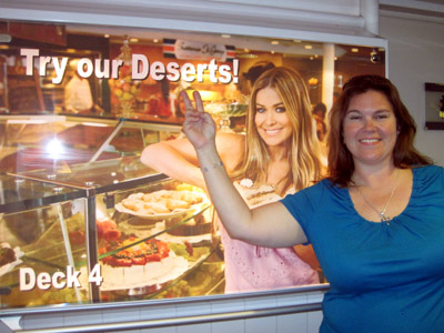 while we found many of desserts at the buffet, we never did find any deserts on the ship.  yes, we were highly amused by the english-as-a-second language all over the ship.