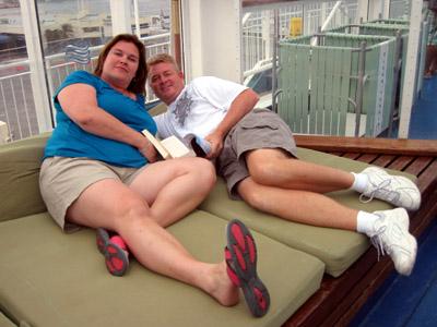 sissy and BIL relaxing sans kiddies