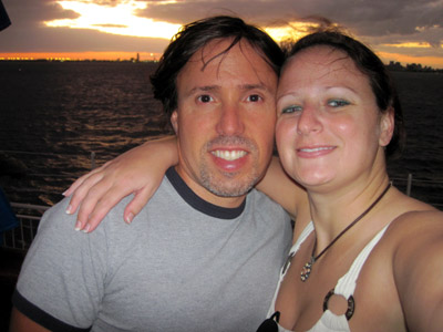 hubby, me, and a lovely sunset