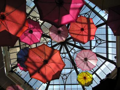 umbrellas hit the glass ceiling