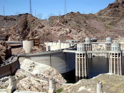 backside of the dam